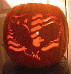Bald Eagle and American Flag pumpkin