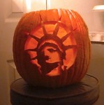 Lady Liberty pumpkin