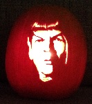 Mr. Spock pumpkin