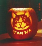 Vanna the Cat pumpkin